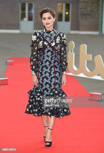 Jenna Coleman arrives for the premiere screening of ITV's 'Victoria' at The Orangery on August 11 2016 in London England