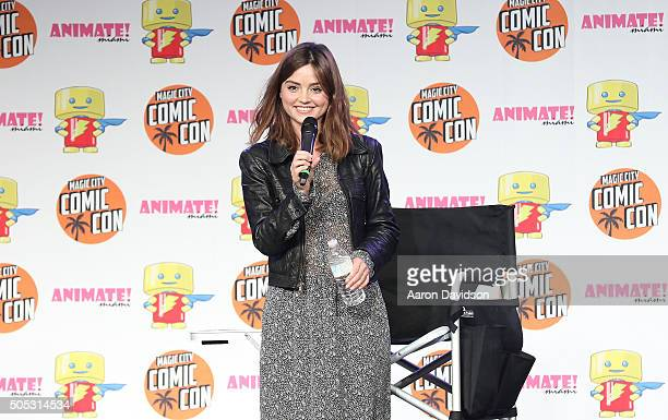 Jenna Coleman attends Magic City Comic Con on January 16 2016 in Miami Florida