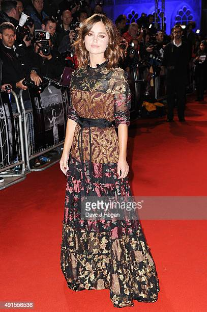 Jenna Coleman attends the BFI Luminous Funraising Gala at The Guildhall on October 6 2015 in London England