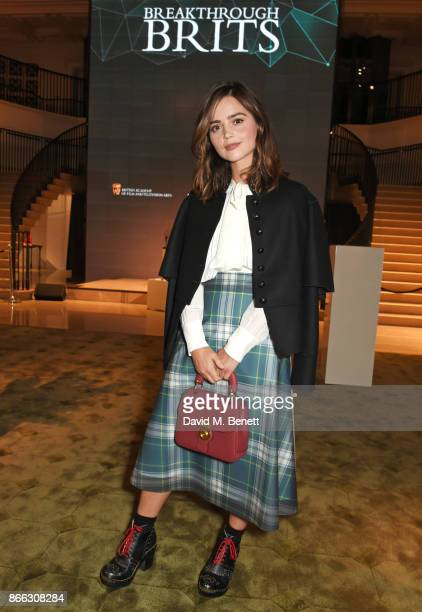 Jenna Coleman attends the Burberry BAFTA Breakthrough Brits 2017 at the global Burberry flagship on October 25 2017 in London England