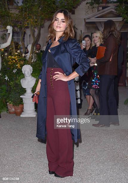 Jenna Coleman attends the Burberry show during London Fashion Week Spring/Summer collections 2016/2017 at Makers House on September 19 2016 in London...
