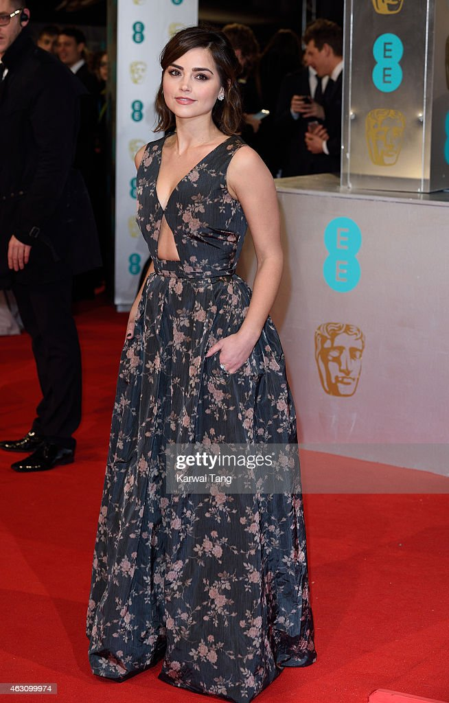 Jenna Coleman attends the EE British Academy Film Awards at The Royal Opera House on February 8, 2015 in London, England.
