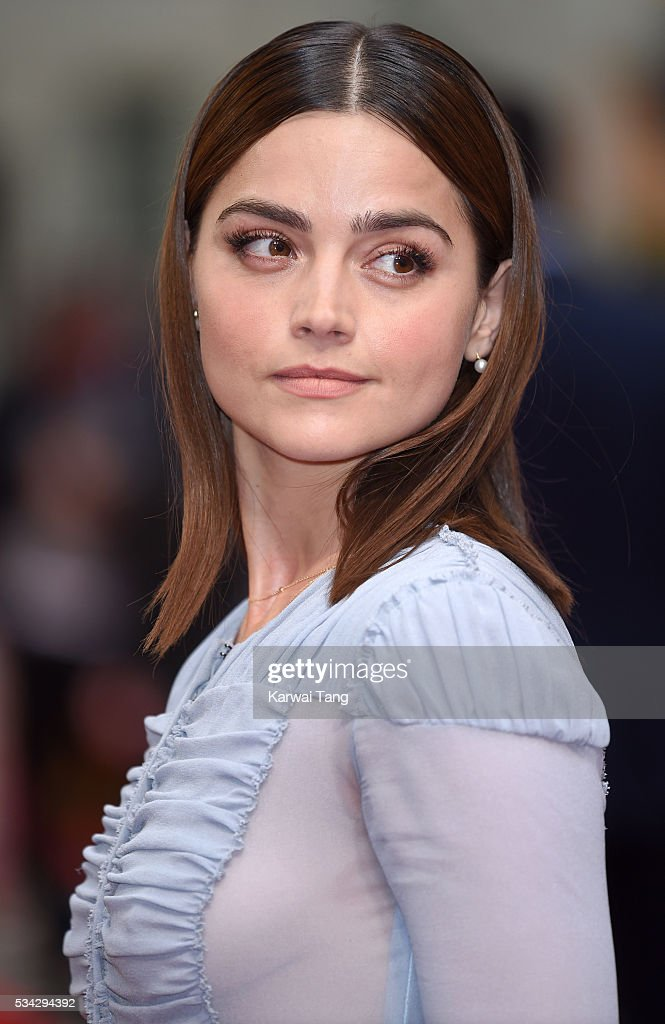 Jenna Coleman attends the European film premiere 'Me Before You' at The Curzon Mayfair on May 25, 2016 in London, England.