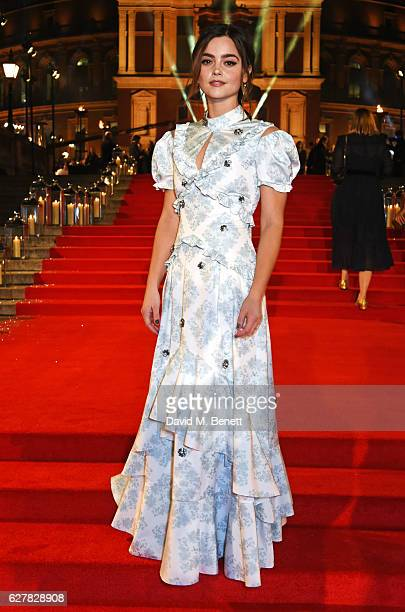 Jenna Coleman attends The Fashion Awards 2016 at Royal Albert Hall on December 5 2016 in London United Kingdom