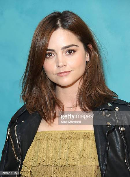 Jenna Coleman attends the private Burberry event during The London Collections Men SS17 at Burberry on June 10 2016 in London England