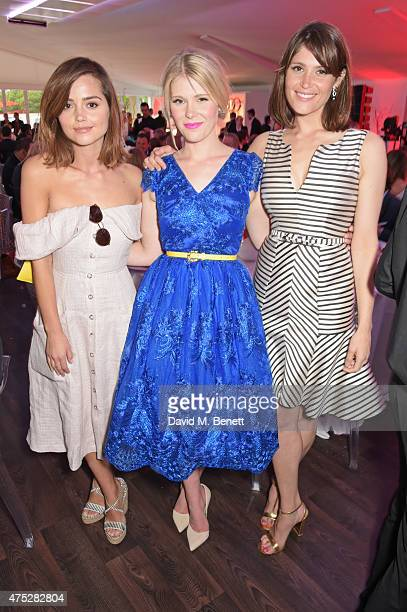 Jenna Coleman Hannah Arterton and Gemma Arterton attend day one of the Audi Polo Challenge at Coworth Park on May 30 2015 in London England