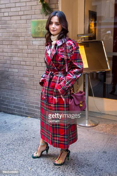 Jenna Coleman is seen in Midtown on December 11 2017 in New York City