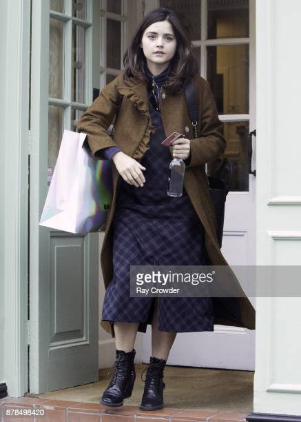 Jenna Coleman seen Black Friday sale shopping in Hampstead on November 24 2017 in London England