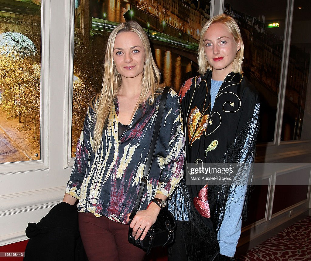 Jenna Courtin-Clarins and Claire Courtin-Clarins attend the Zadig&Voltaire Fall/Winter 2013 Ready-to-Wear show as part of Paris Fashion Week at Hotel Westin on March 5, 2013 in Paris, France.