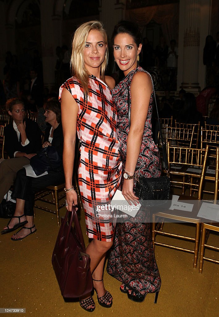 Jenna CourtinClarins and Prisca CourtinClarin attends the Thakoon Spring 2012 fashion show during MercedesBenz Fashion Week at the Grand Ballroom at...