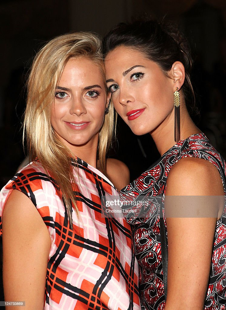 Jenna CourtinClarins and Prisca CourtinClarins attends the Thakoon Spring 2012 fashion show during MercedesBenz Fashion Week at the Grand Ballroom at...
