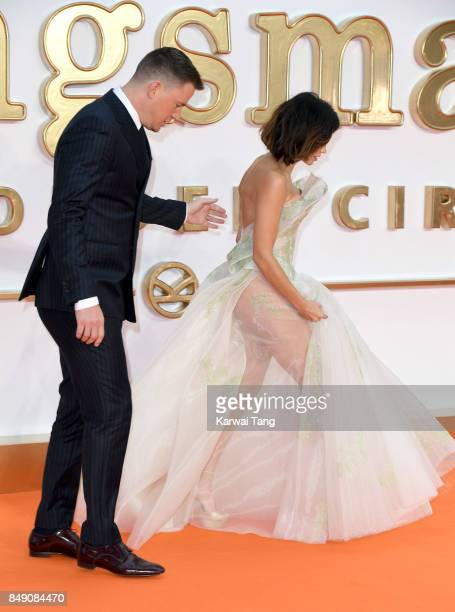 Jenna Dewan and Channing Tatum attend the 'Kingsman The Golden Circle' World Premiere at Odeon Leicester Square on September 18 2017 in London England