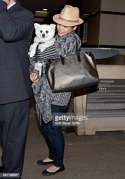 Jenna Dewan is seen at Los Angeles International Airport on January 04 2013 in Los Angeles California
