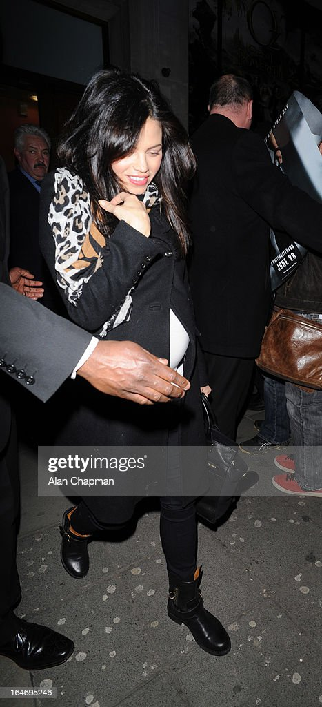 Jenna Dewan sighting leaving the Apollo cinema after husband Channing Tatum's White House Down fan event on March 26, 2013 in London, England.