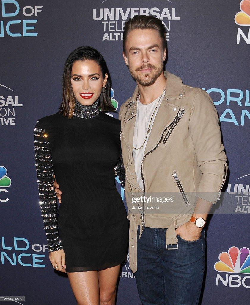 Jenna Dewan Tatum and Derek Hough attend NBC's 'World of Dance' celebration at Delilah on September 19, 2017 in West Hollywood, California.