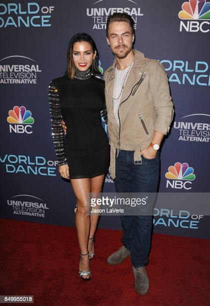 Jenna Dewan Tatum and Derek Hough attend NBC's 'World of Dance' celebration at Delilah on September 19 2017 in West Hollywood California