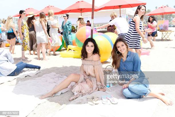 Jenna Dewan Tatum and Jessica Alba attend Baby2Baby Beach Playdate Presented By Havaianas on June 2 2017 in Santa Monica California