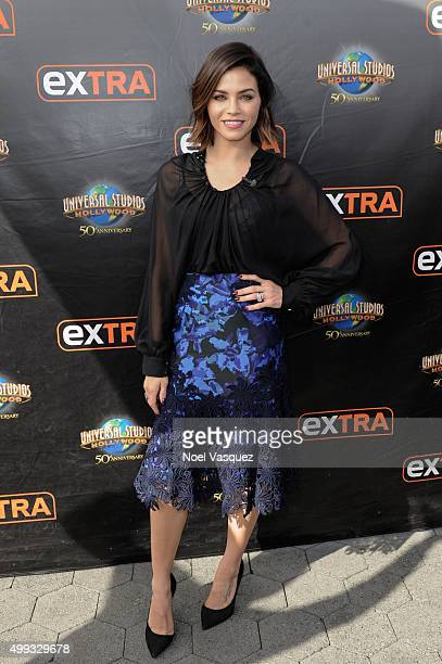 Jenna Dewan Tatum visits 'Extra' at Universal Studios Hollywood on November 30 2015 in Universal City California