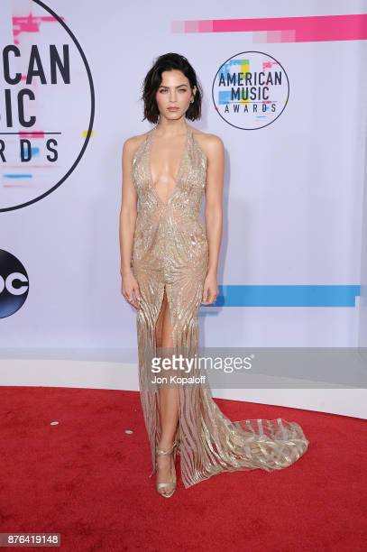 Jenna DewanTatum attends the 2017 American Music Awards at Microsoft Theater on November 19 2017 in Los Angeles California