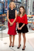 Jenna Elfman and Ava DelucaVerley visit 'Extra' at their HM Studio in Times Square on February 25 2014 in New York City