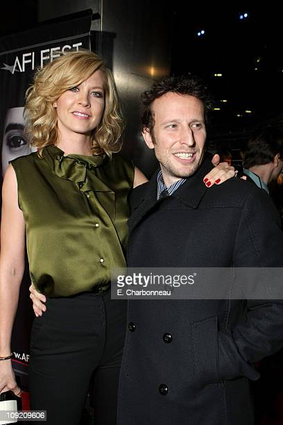 Jenna Elfman and Bodhi Elfman at the Los Angeles Premiere of 'Lions For Lambs' at the Cinerama Dome on November 1 2007 in Hollywood California