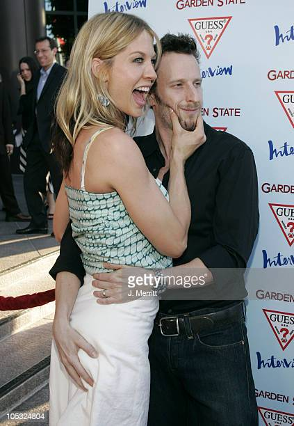 Jenna Elfman and Bodhi Elfman during 'Garden State' Los Angeles Premiere Arrivals at Directors Guild of America in Los Angeles California United...
