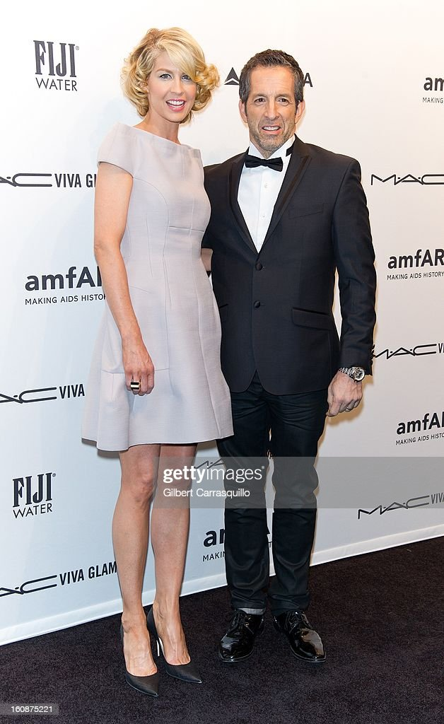 Jenna Elfman and Kenneth Cole attends amfAR New York Gala To Kick Off Fall 2013 Fashion Week at Cipriani, Wall Street on February 6, 2013 in New York City.