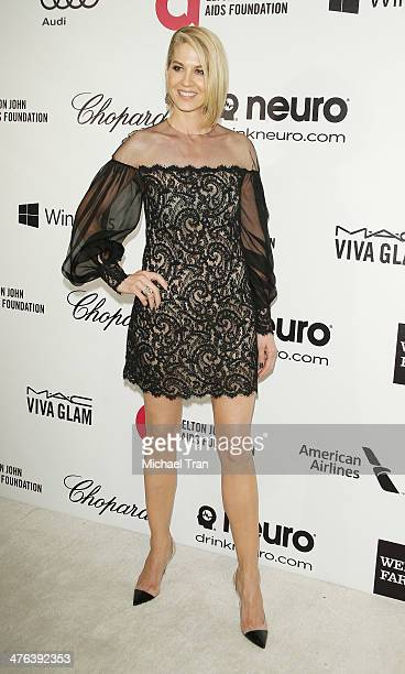 Jenna Elfman arrives at the 22nd Annual Elton John AIDS Foundation's Oscar viewing party held on March 2 2014 in West Hollywood California