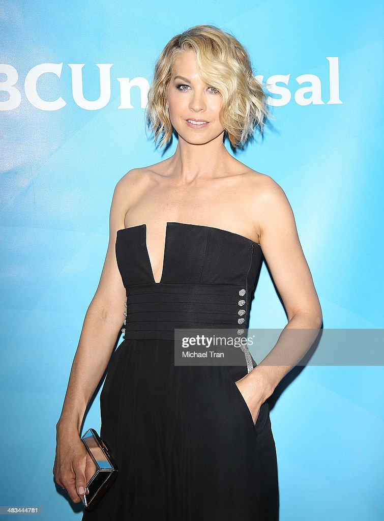 Jenna Elfman arrives at the NBCUniversal's 2014 Summer Press Day held at Langham Hotel on April 8 2014 in Pasadena California