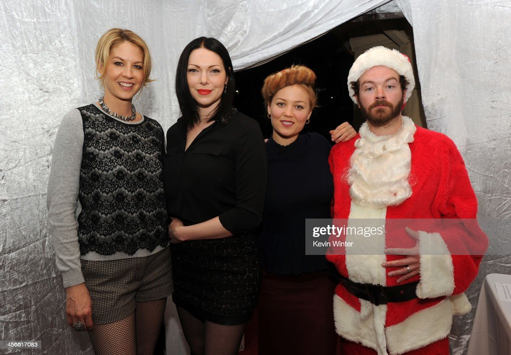 <a gi-track='captionPersonalityLinkClicked' href=/galleries/search?phrase=Jenna+Elfman&family=editorial&specificpeople=204782 ng-click='$event.stopPropagation()'>Jenna Elfman</a>, <a gi-track='captionPersonalityLinkClicked' href=/galleries/search?phrase=Laura+Prepon&family=editorial&specificpeople=211299 ng-click='$event.stopPropagation()'>Laura Prepon</a>, <a gi-track='captionPersonalityLinkClicked' href=/galleries/search?phrase=Erika+Christensen&family=editorial&specificpeople=202168 ng-click='$event.stopPropagation()'>Erika Christensen</a> and <a gi-track='captionPersonalityLinkClicked' href=/galleries/search?phrase=Danny+Masterson&family=editorial&specificpeople=239512 ng-click='$event.stopPropagation()'>Danny Masterson</a> attend the Church of Scientology Celebrity Centre's 21st 'Christmas Stories' at the Church of Scientology Celebrity Centre on December 14, 2013 in Los Angeles, California. 'Christmas Stories' benefits the Hollywood Police Department's Youth Development Programs for underprivileged children.