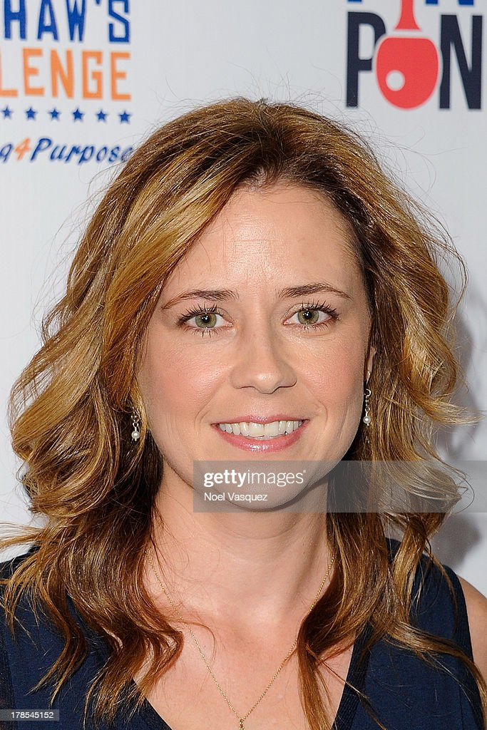<a gi-track='captionPersonalityLinkClicked' href=/galleries/search?phrase=Jenna+Fischer&family=editorial&specificpeople=274744 ng-click='$event.stopPropagation()'>Jenna Fischer</a> attends Clayton Kershaw's inaugural Ping Pong 4 Purpose at Dodger Stadium on August 29, 2013 in Los Angeles, California.