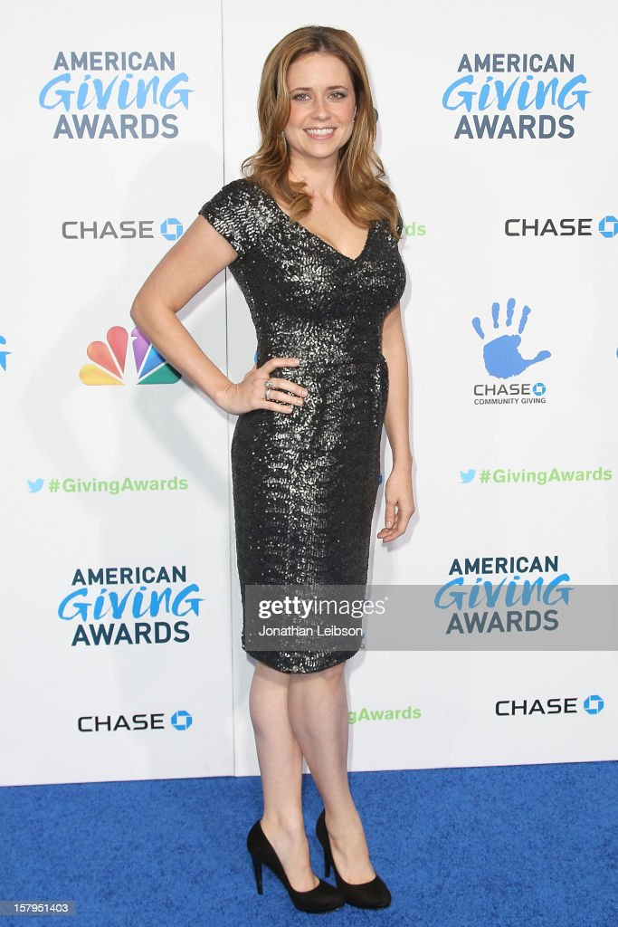 Jenna Fischer attends the 2nd Annual American Giving Awards Arrivals at Pasadena Civic Auditorium on December 7 2012 in Pasadena California