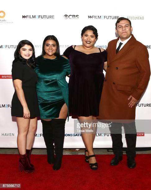 Jenna Flores Marlene Leyva Liz Sanchez and Adan Nolasco at the Film2Future Year 2 Awards Ceremony on November 16 2017 in Los Angeles California