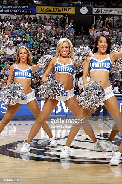 Jenna Gillund of the Dallas Mavericks dance team perform during a game against the Phoenix Suns on April 10 2011 at the American Airlines Center in...