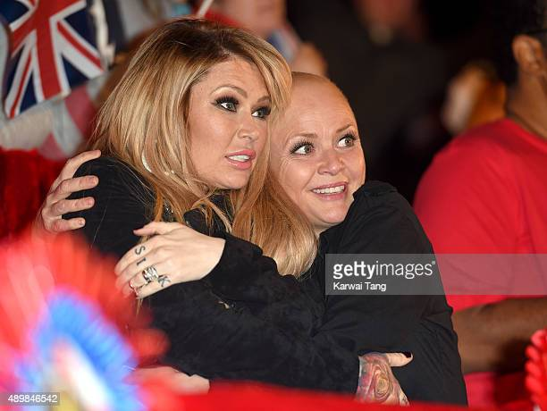 Jenna Jameson and Gail Porter attend the Celebrity Big Brother Final at Elstree Studios on September 24 2015 in Borehamwood England