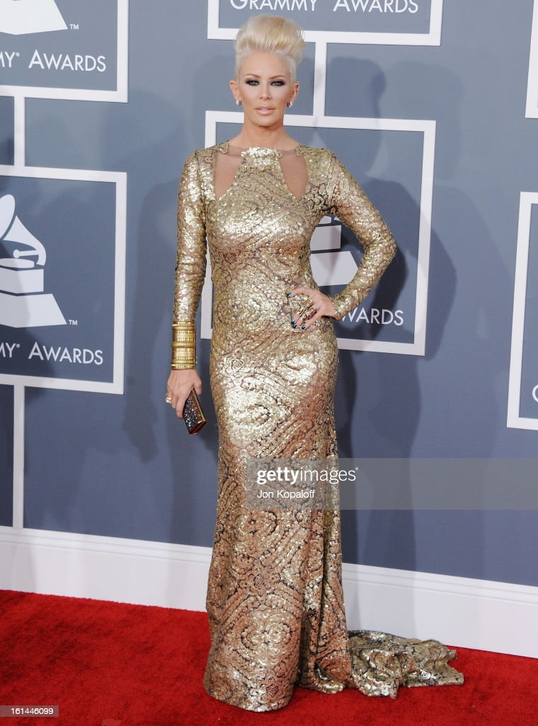 Jenna Jameson arrives at The 55th Annual GRAMMY Awards at Staples Center on February 10, 2013 in Los Angeles, California.