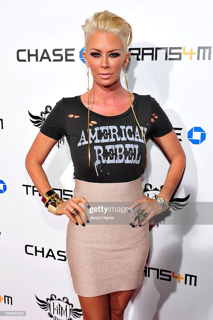 Jenna Jameson arrives at will.i.am's Annual TRANS4M Concert Benefitting i.am.angel Foundation on February 7, 2013 in Hollywood, California.