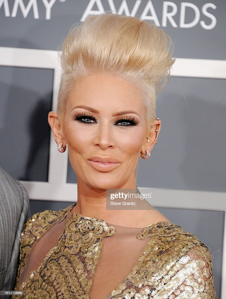 Jenna Jameson attends the 55th Annual GRAMMY Awards at STAPLES Center on February 10, 2013 in Los Angeles, California.
