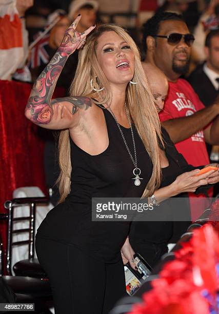 Jenna Jameson attends the Celebrity Big Brother Final at Elstree Studios on September 24 2015 in Borehamwood England