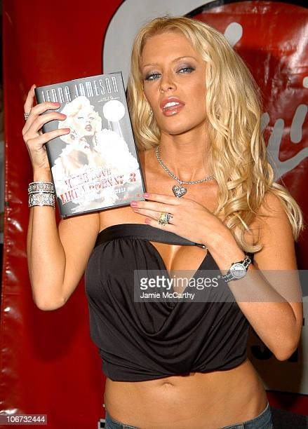 Jenna Jameson during Jenna Jameson Celebrates the Release of her Book 'How To Make Love Like A Porn Star A Cautionary Tale' at The Virgin Mega Store...