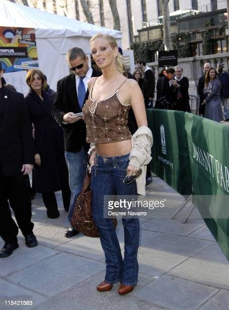 Jenna Jameson during Olympus Fashion Week Fall 2006 Luca Luca Departures at Bryant Park in New York City New York United States