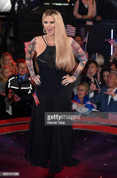 Jenna Jameson enters the Celebrity Big Brother house at Elstree Studios on August 27 2015 in Borehamwood England