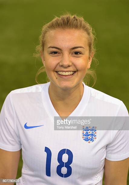 Jenna Legg of England during the U19 Women's Friendly match between England U19 Women and Norway U19 Women at St Georges Park on January 26 2016 in...