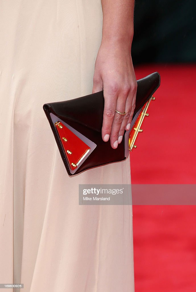 Jenna Louise Coleman (handbag detail) attends the Arqiva British Academy Television Awards 2013 at the Royal Festival Hall on May 12, 2013 in London, England.