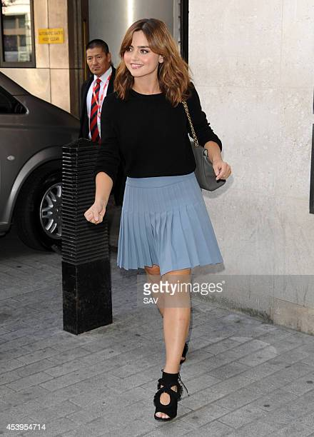 Jenna Louise Coleman pictured at BBC Radio 1 on August 22 2014 in London England
