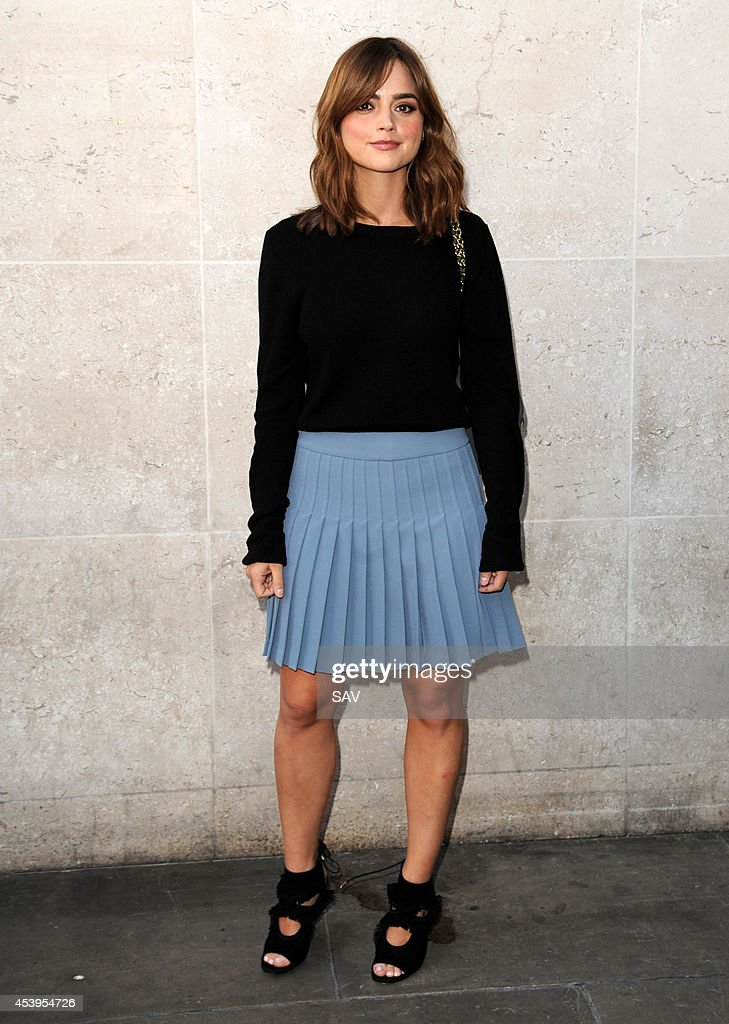 Jenna Louise Coleman pictured at BBC Radio 1 on August 22, 2014 in London, England.