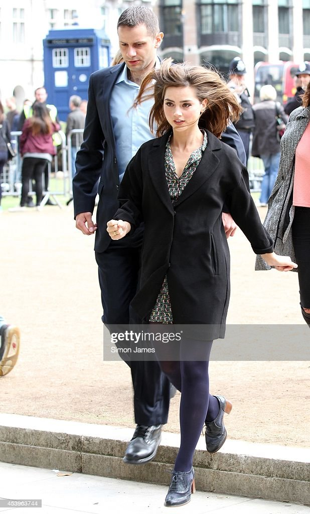 Jenna Louise Coleman sighting on August 22, 2014 in London, England.