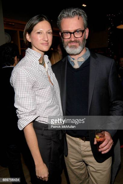 Jenna Lyons and Frank Muytjens attend The MONOCLE Holiday Party at the J CREW Men's Shop at The J Crew Men's Shop on November 17 2009 in New York