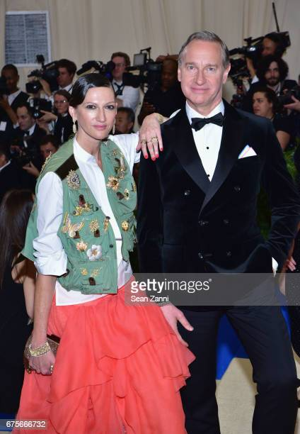 Jenna Lyons and Paul Feig arrives at 'Rei Kawakubo/Comme des Garcons Art Of The InBetween' Costume Institute Gala at The Metropolitan Museum on May 1...