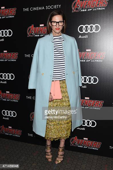 Jenna Lyons attends The Cinema Society Audi screening of Marvel's 'Avengers Age of Ultron' at SVA Theater on April 28 2015 in New York City